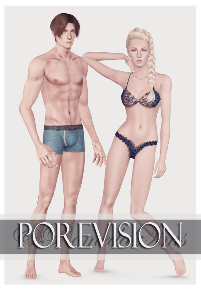 HD PoreVision Non-Default Skin by andromedasims