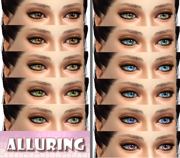 """Alluring"" - 11 Non-Default Eyes by kellyhb5"