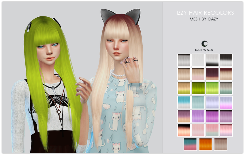 Kalewa-a  Hairstyles : Cazys Izzy Recolors