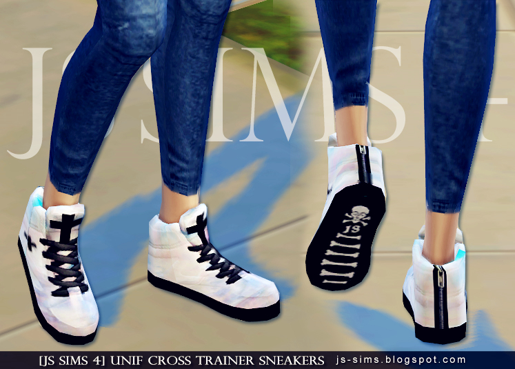 JS Sims 4  Shoes, Shoes for females : Cross Trainer Sneakers