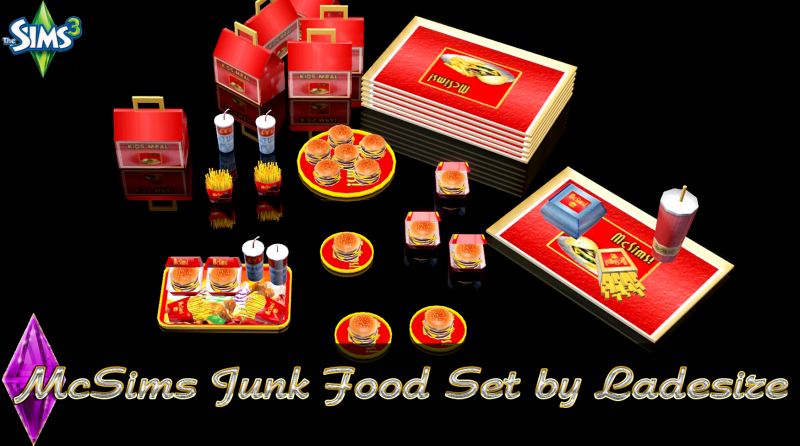 McSims Junk Food Set by Ladesire