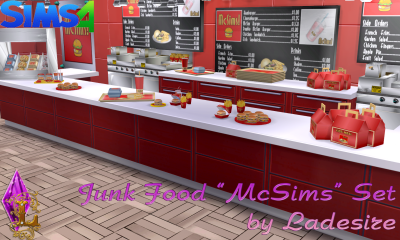 """McSims Junk Food"" by Ladesire"