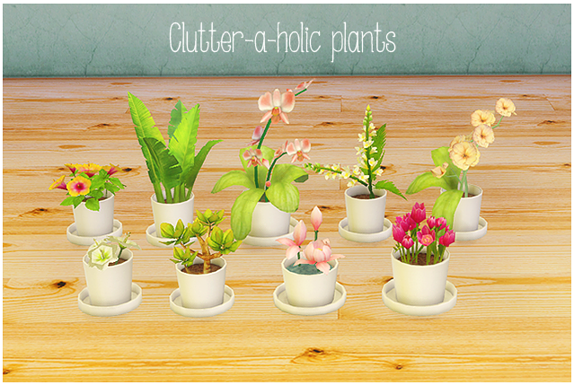 Clutter-a-holic-plants by LinaCherie
