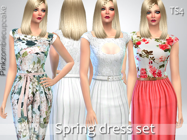 Spring Dress Set by Pinkzombiecupcakes