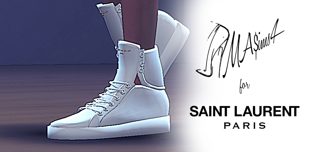 Saint Laurent High Top Sneakers by MrAntonieddu