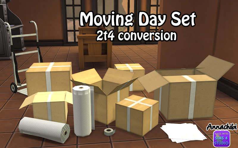 Mustluvcatz Moving Day Clutter Conversions by AnnachibiSims
