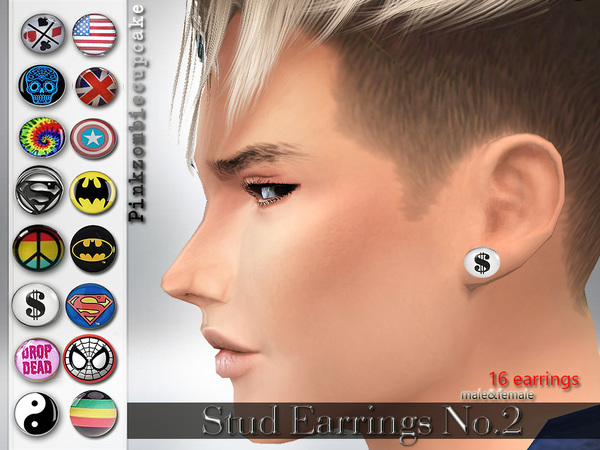 Stud Earrings no.2 by Pinkzombiecupcakes