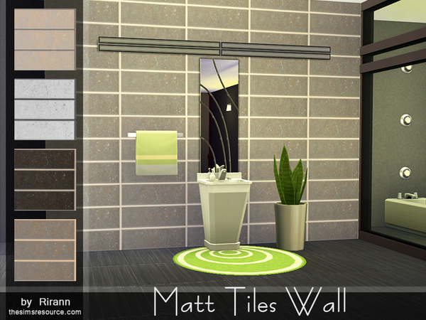Matt Tiles Wall by Rirann