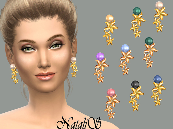 NataliS_Starfish pearl cascade earrings FT-FE