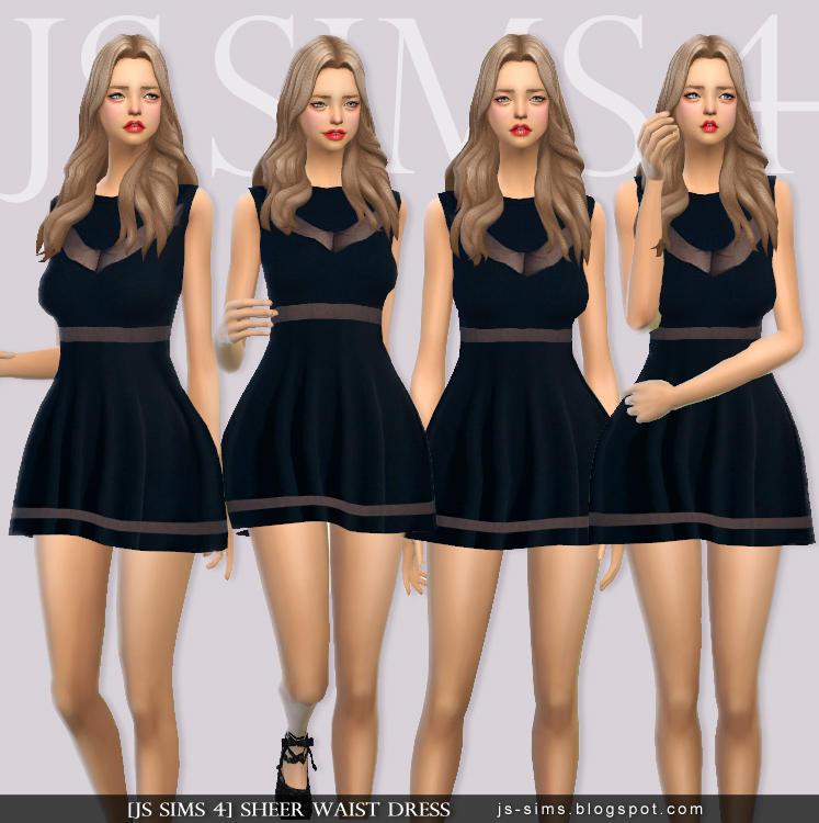 Sheer Waist Dress by JS SIMS 4