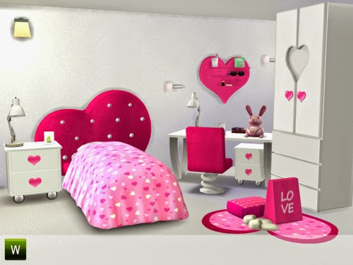 Femina Bedroom Set by LittleSimsStuff