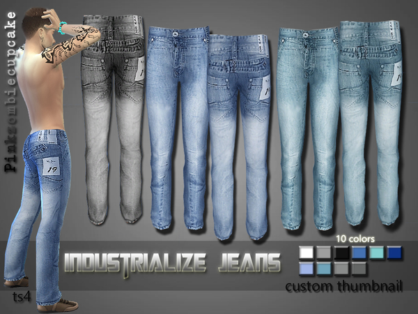 Industrialize Jeans by Pinkzombiecupcakes