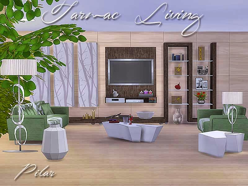SimControl  Furniture, Living room : Tarmac Living by Pilar