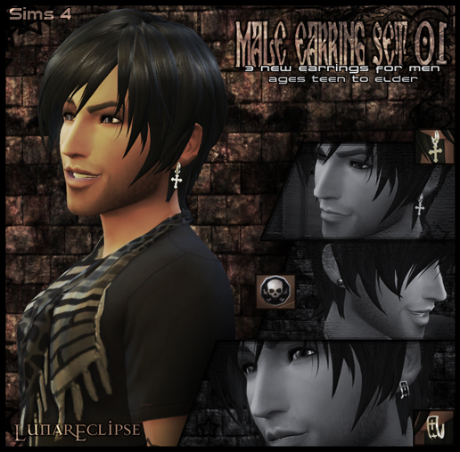 Eclipse [Male Earring Set 01] by Lunar Eclipse