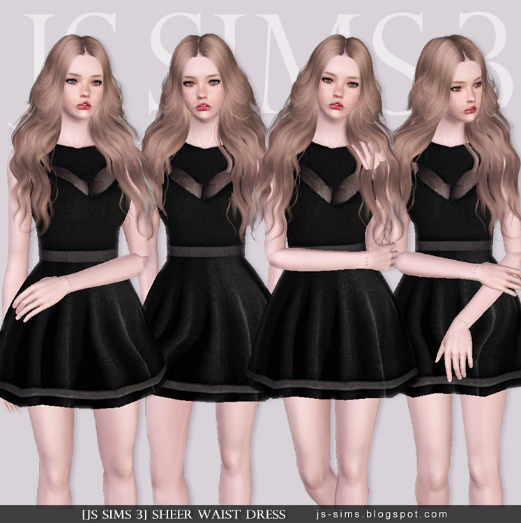 Sheer Waist Dress by JS SIMS