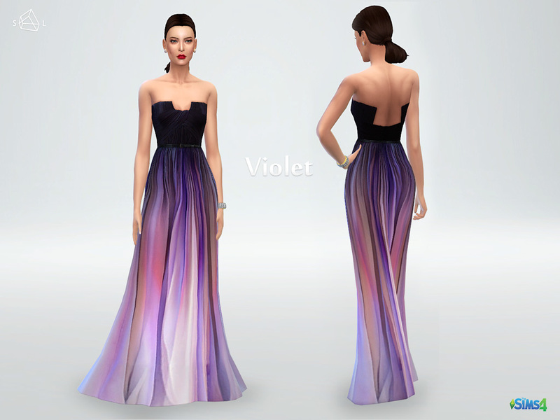 Silk ombre gown Violet BY starlord