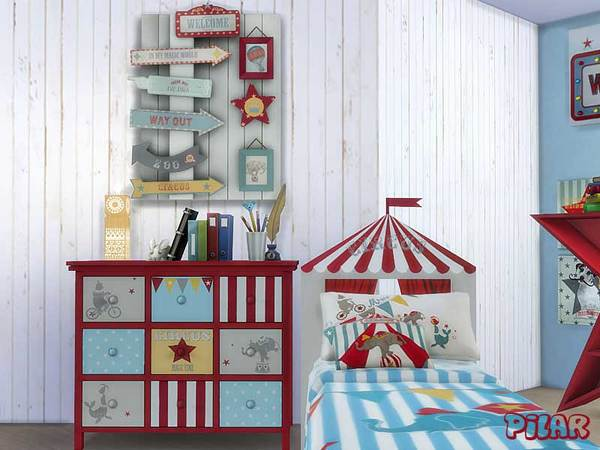 Circus Bedroom by Pilar