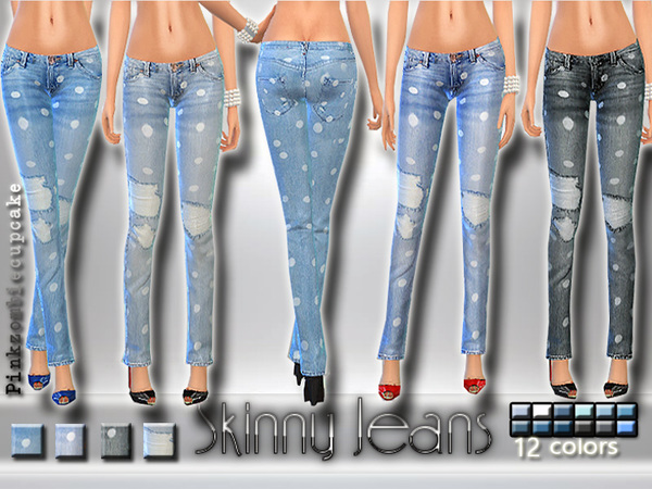 Skinny Jeans with Dots by Pinkzombiecupcakes