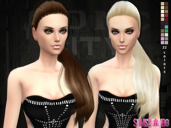 Hair 04 - Selena ponytail hair by sims2fanbg