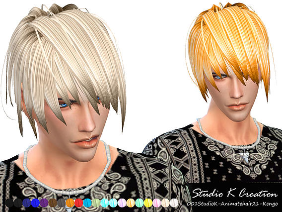 Animate hair 21- Kengo by Studio K-Creation