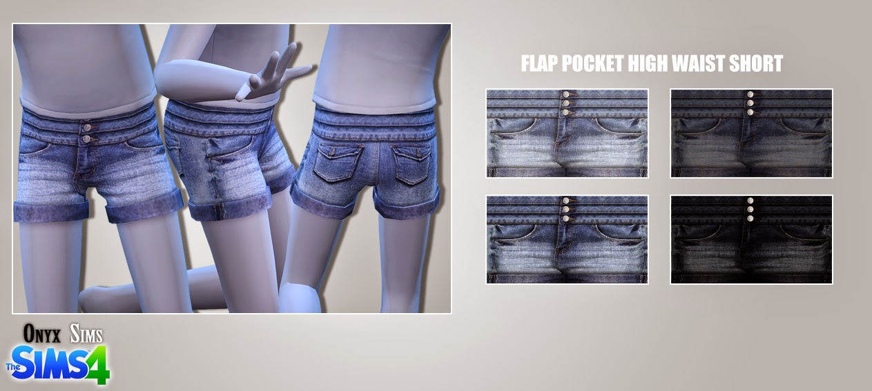 CF High Denim Shorts by Onyx Sims