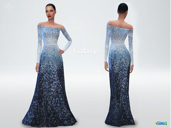 Long sleeve fitted dress 'Galaxy' by starlord