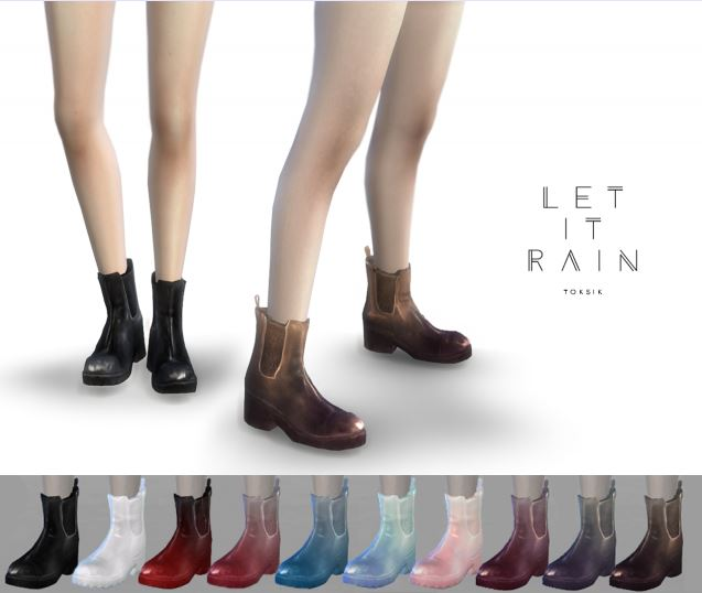 Let It Rain Boots for Females by TokSik
