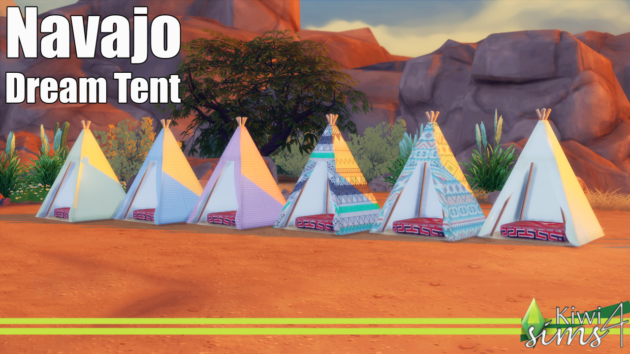 Navajo Dream Tent by KiwiSims4