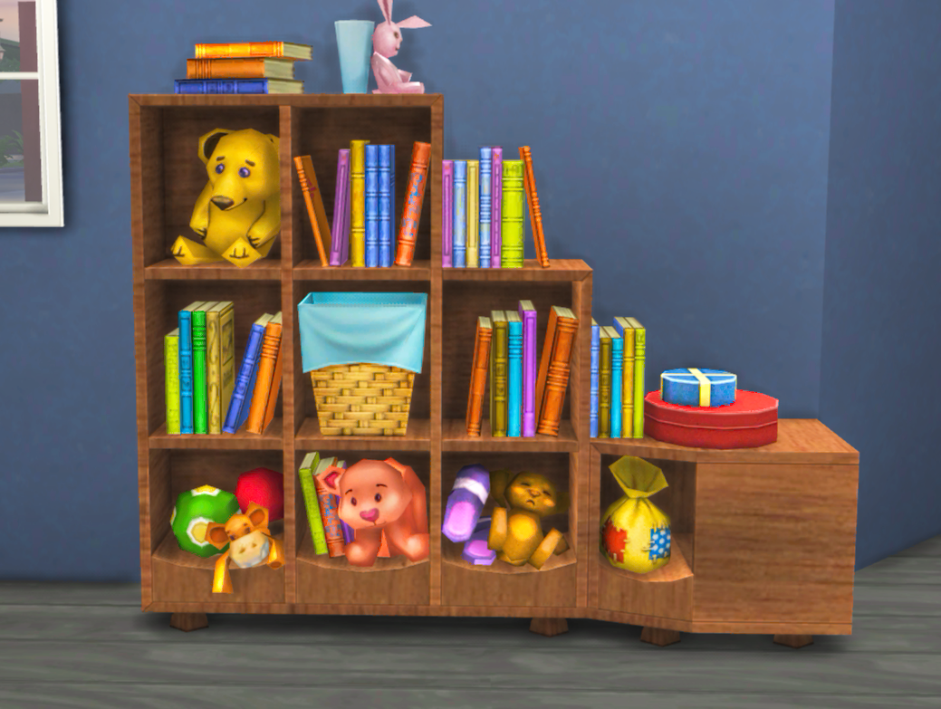 TS3 Generations Bookcase Conversion by Mysimlifefou