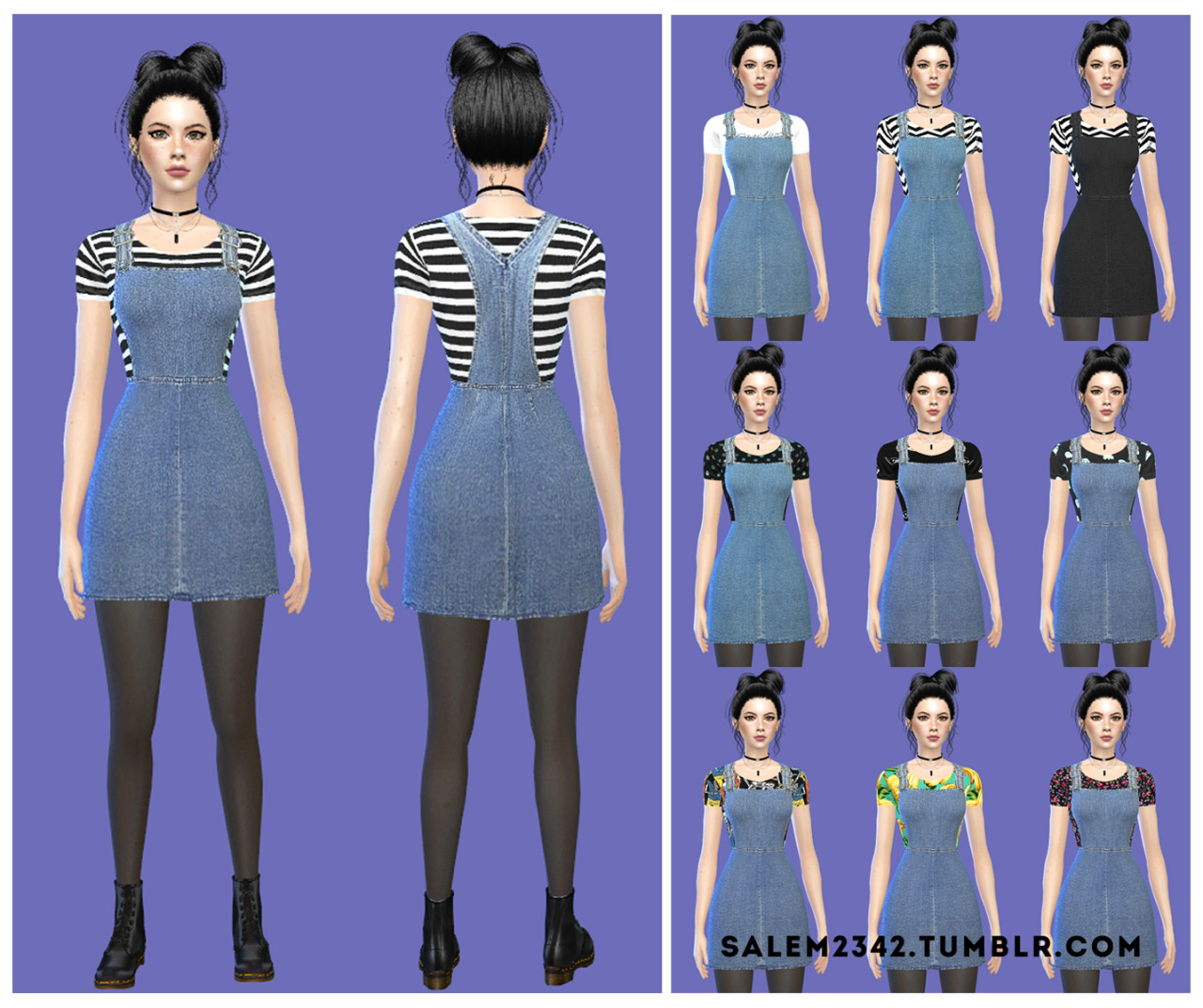 Denim sundress by Salem2342