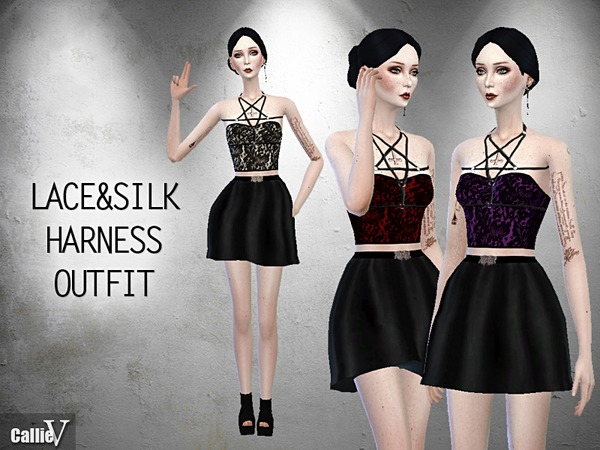 Lace & Silk Harness Outfit by Callie V