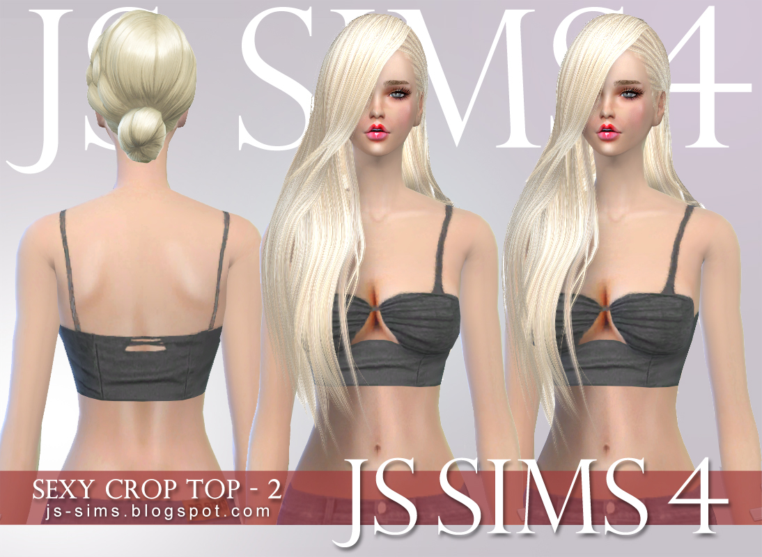 Sexy Crop Top Set for Teen & Adult Females by JS Sims 4