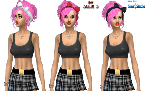 Julietoon  Julie J  Hairstyles : 3to4 Bow Hair updated