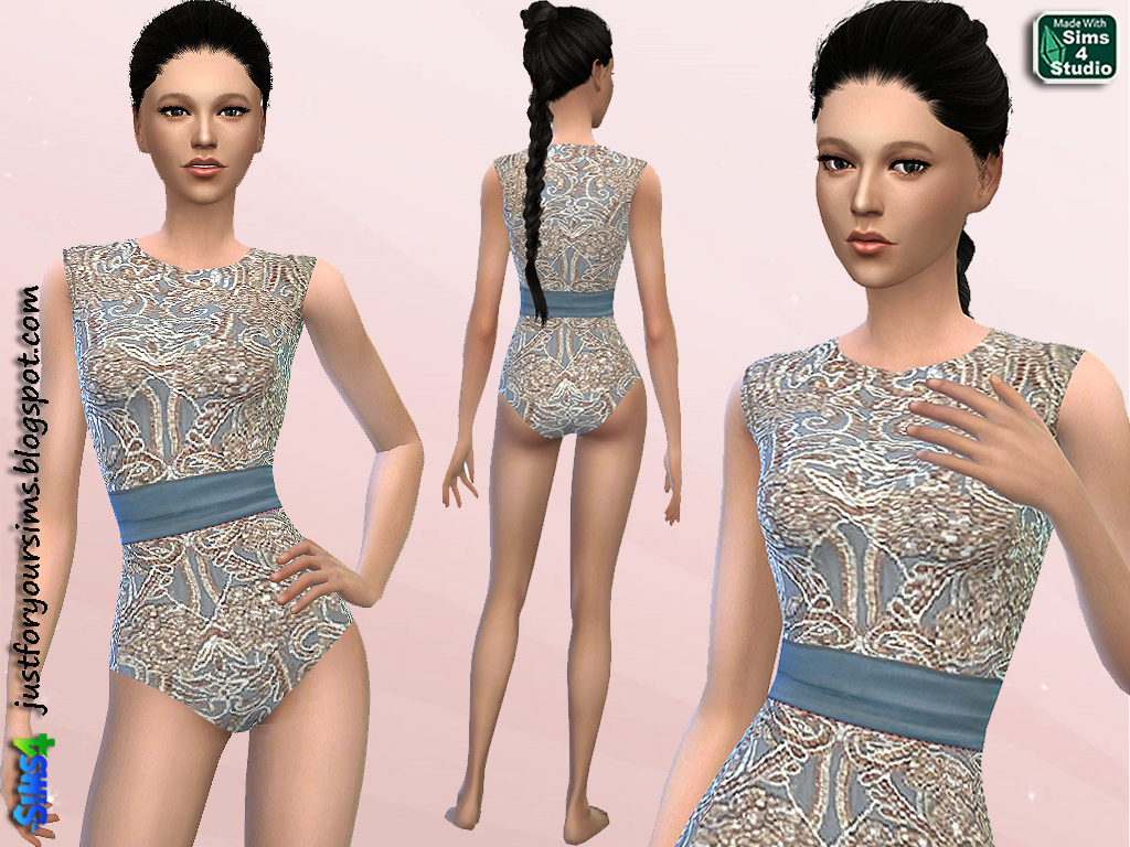 Lace Bodysuit by Just For Your Sims