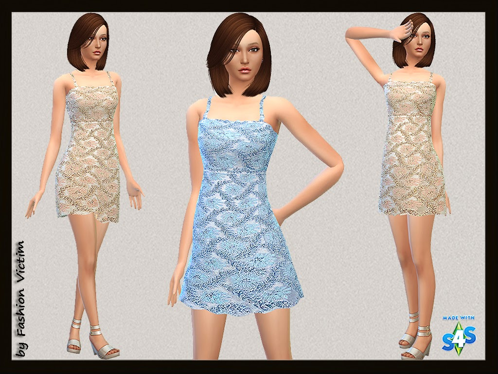 Lace Cocktail Dress by Just For Your Sims