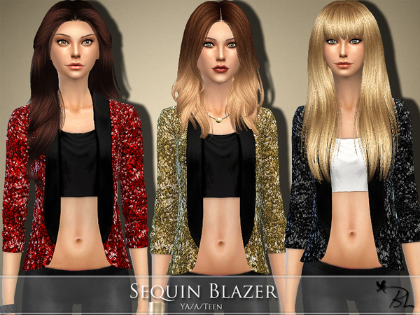 Sequin Blazer by Black Lily