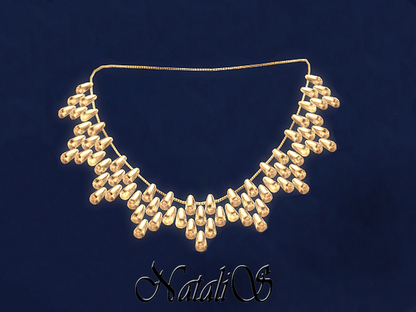 NataliS_Beads cascade drop necklace FA-FE