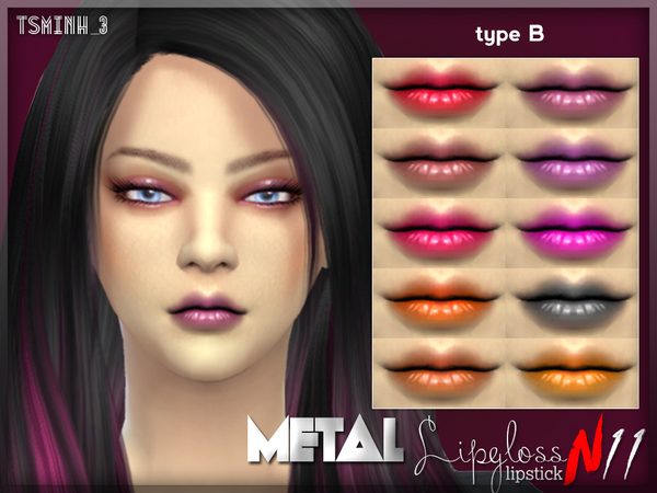 Metal Lips Gloss B by tsminh_3