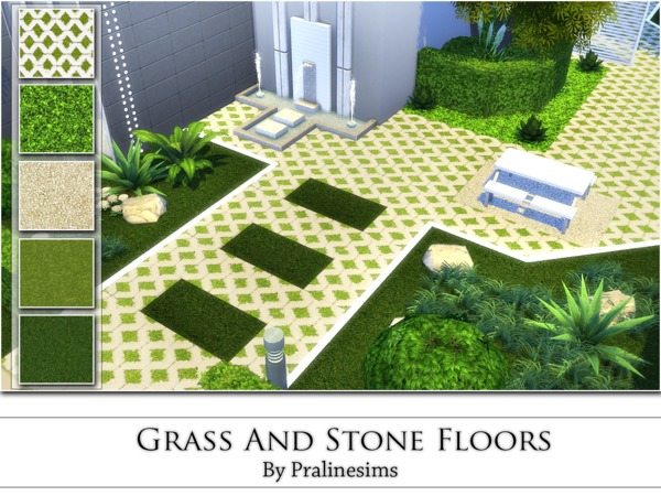 Grass And Stone Floors by Pralinesims