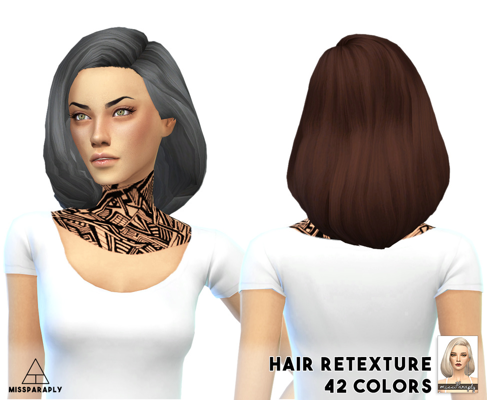 Tamo Puffy Shoulder Bob Hair Retexture for Females