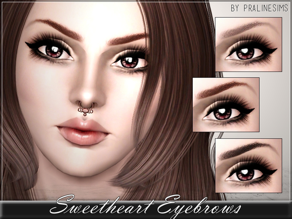 Sweetheart Eyebrows by Pralinesims