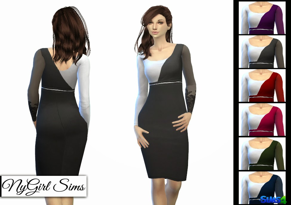 Sheer Sleeve Pencil Dress by NyGirl