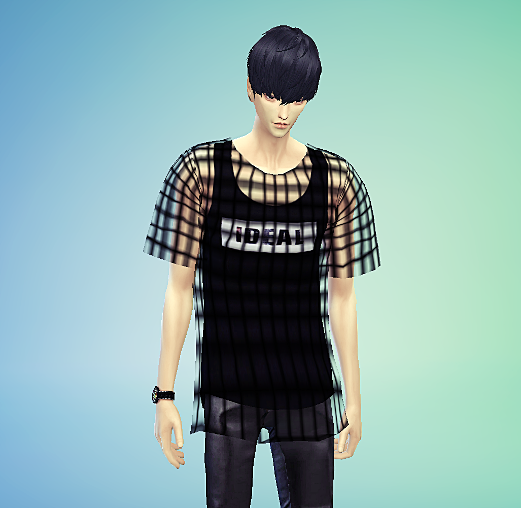 Layered Mesh T-Shirt for Males by Marigold