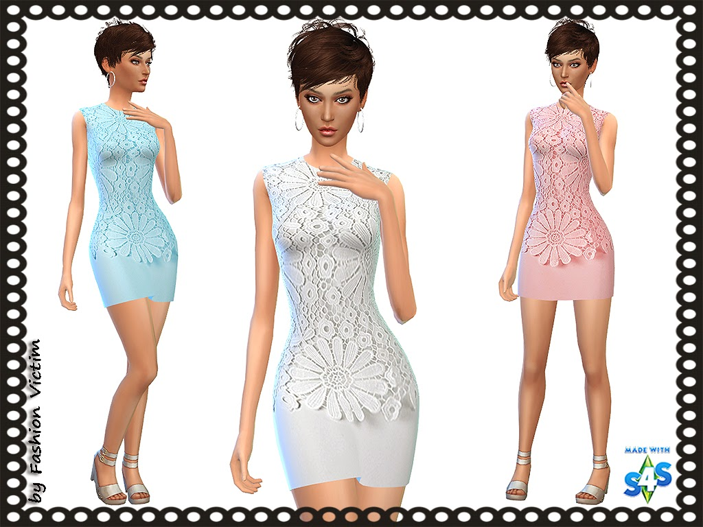 Summer Lace Mini Dress by Just For Your Sims