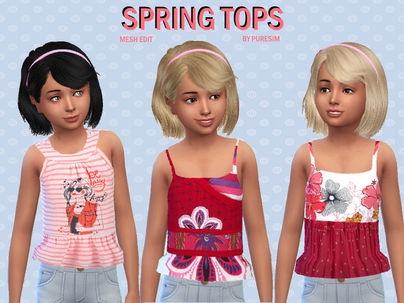 Spring Tops  BY Puresim
