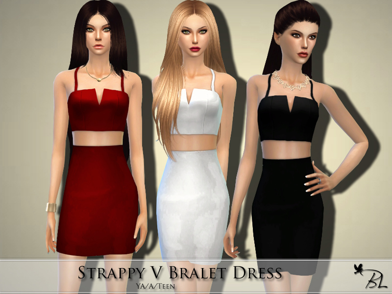 Strappy V Bralet Dress BY Black Lily