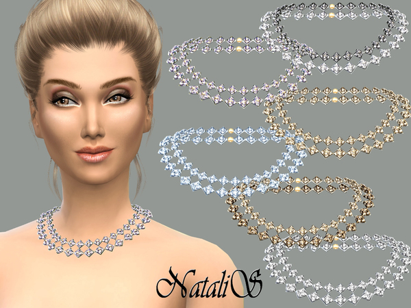 NataliS_Gentle crystals necklace FA-FE