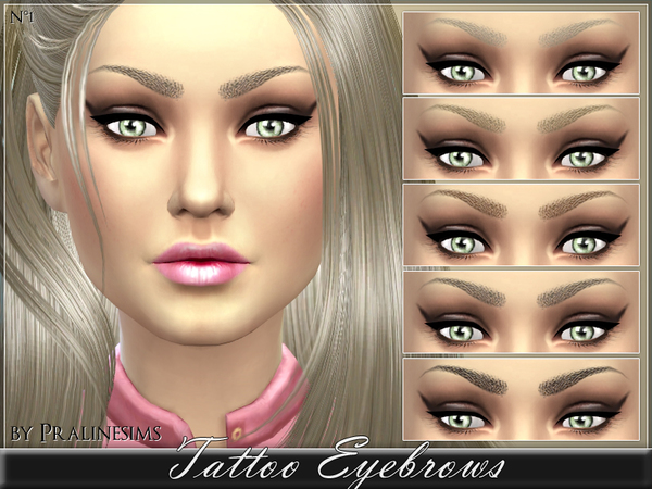 Tattoo Eyebrows by Pralinesims