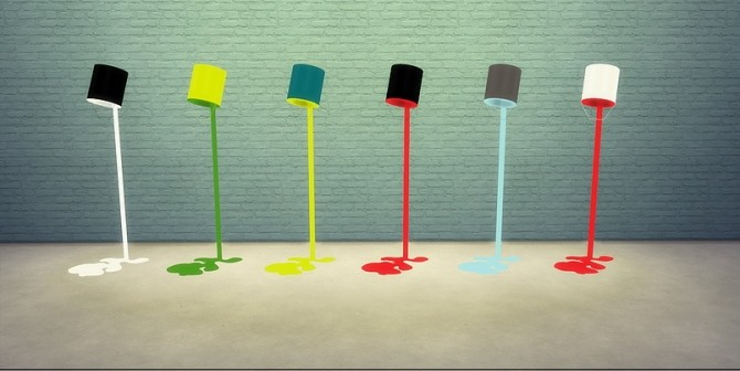 Meinkatz Creations  Objects, Lighting : Paint Pot Floor Lamp