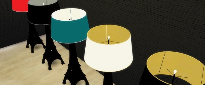 Meinkatz Creations  Objects, Lighting : Eiffel Tower floor lamp